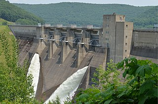 Kinzua Dam Dam in Allegheny National Forest Glade Township / Mead Township, Warren County, Pennsylvania, United States