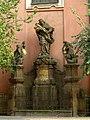 Klášter voršilek (Nové Město), Praha 1, Národní 8, Nové Město - socha sv. Jana Nepomucekého před klášterem.JPG