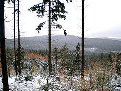Kočka (789 m) a Kamenná (735 m).JPG