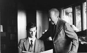 Jascha Heifetz - Rudolf Koelman (left) with Heifetz, 1979