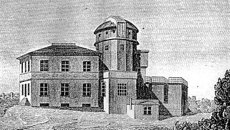 Friedrich Bessel - Königsberg Observatory in  1830. It was destroyed by bombing in the Second World War.