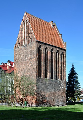 Kołobrzeg - Fuse Tower, last remnant of the medieval fortification