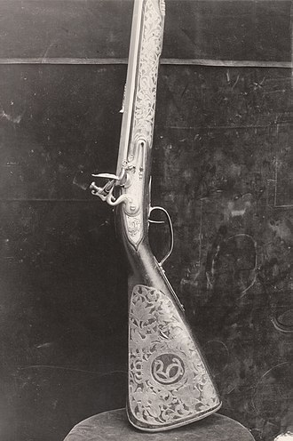 Christian V of Denmark - King Christian V's rifle made by Trondheim's weapon-maker Lars Berg.