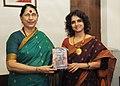 Krishna Tirath releasing a short film on domestic violence, produced by Dr. Vartika Nanda, Department of Journalism, Lady Shri Ram College, Delhi University, in New Delhi on September 12, 2012.jpg