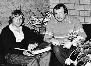Kristen Nygaard (footballer) - Kristen Nygaard (left) in 1982