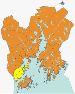 Voiebyen District in Kristiansand in Southern Norway, Norway