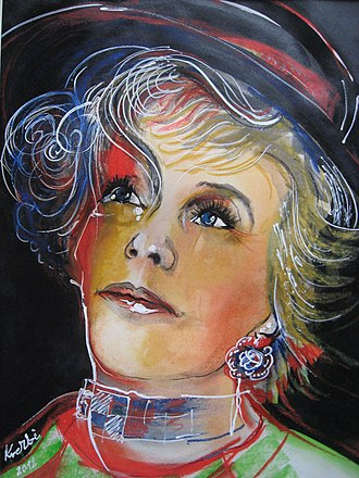 Krystyna Janda - Krystyna Janda by artist Zbigniew Kresowaty