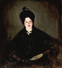 Portrait of Alina Glassowa née Bondy.