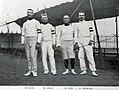 L'équipe de Hongrie, championne olympique de l'escrime au sabre en 1908.jpg