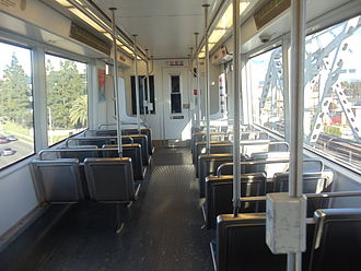 Green Line (Los Angeles Metro) - Interior of a Metro Green Line Siemens P2000 train