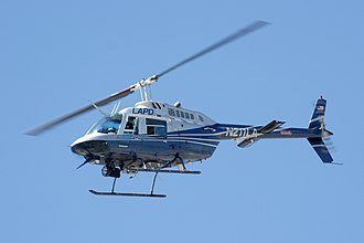 Helicopter - A Bell 206 helicopter of the Los Angeles Police Department