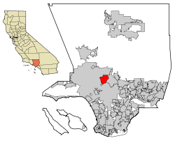 LA County Incorporated Areas Burbank highlighted.svg