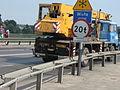 LIAZ crane truck on Zygmunta Kasińskiego, Ziewrzyniecka and Tadeusza Kościuszki intersection in Kraków (3).jpg