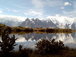 Monte Bianco dal lago di Cheserys