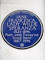 Lady Jane Francesca Wilde 'Speranza' 1821-1896 Poet and Essayist lived here 1887-1896.jpg