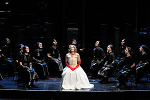 Lady Macbeth of the Mtsensk District (opera) - A production of the Helikon Opera Moscow at the Teatro Comunale di Bologna in December 2014, with Svetlana Sozdateleva in the title role, staged by Dmitry Bertman