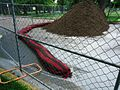 Lafayette College Easton PA 46 construction erosion barrier.jpg
