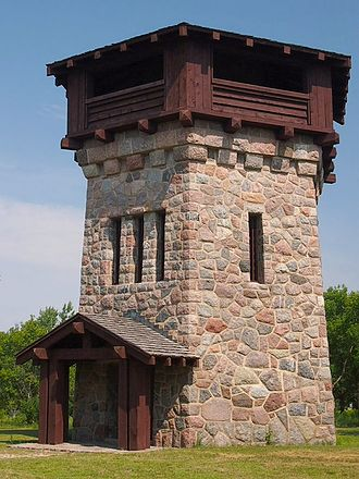 Lake Bronson State Park - The WPA-built observation/water tower