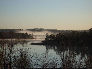 Ginninderra Creek river in Australia