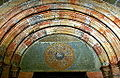 Lamb of God - Tympanum of the church entrance (interior) - Monastery of Poblet - Catalonia 2014.JPG