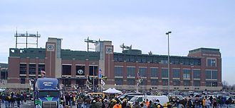 Lambeau Field - The renovated Lambeau Field on game day