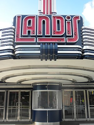 Vineland, New Jersey - The marquee of the Landis Theater