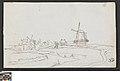 Landschap met twee windmolens, circa 1811 - circa 1842, Groeningemuseum, 0041575000.jpg