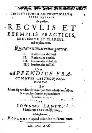 Johann Lantz - Institutionum arithmeticarum libri quatuor, 1619