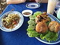 Lao papaya salad and rice balls.jpg