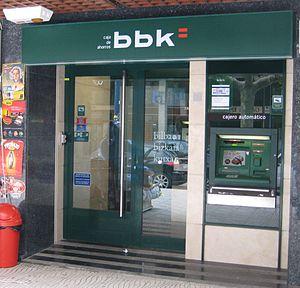 English: Office of Bilbao Bizkaia Kutxa saving...