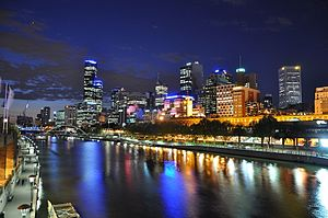 Anglo-Celtic Australians - Melbourne - named in honour of William Lamb, 2nd Viscount Melbourne and thus indirectly takes its name from the village of Melbourne, England.