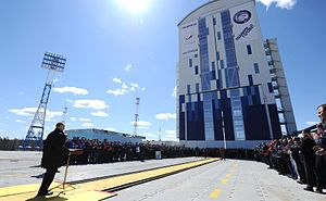 Vostochny Cosmodrome - Image: Launch of the Soyuz 2.1a from Vostochny 2016 04 28 009