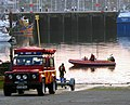 Launching a 'rib', Bangor (2) - geograph.org.uk - 792794.jpg