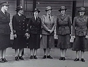 Women in the Australian military - The leaders of the female branches of the Australian military in 1942