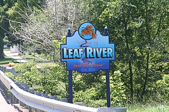 Leaf River, Illinois - Sign seen when entering Leaf River