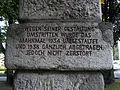 Leoben Donawitz - Denkmal gegen den Krieg von Fritz Wotruba - Inschrift II.jpg