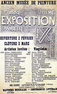 <i>Les XX</i> group of twenty Belgian painters, designers and sculptors, formed in 1883