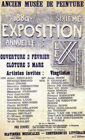 Les XX - Poster of the 1889 Les XX exhibition