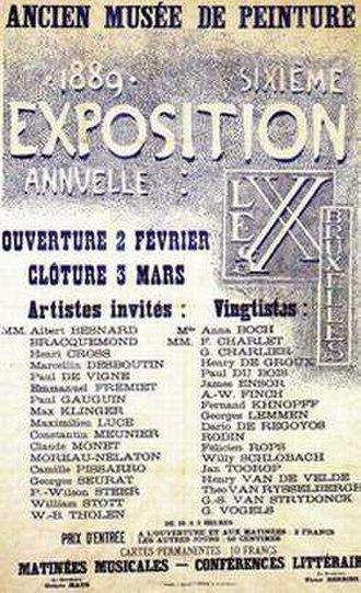 Les XX - Poster of the 1889 Les XX exhibition