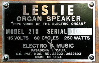 Leslie speaker - Faragher