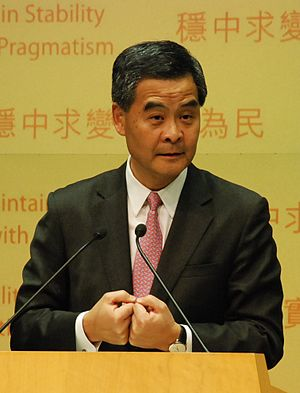 Leung Chun-ying–UGL agreement - Leung Chun-ying at the Policy Address in 2013.