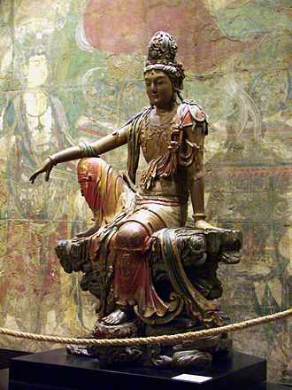 Compassion - Avalokiteśvara looking out over the sea of suffering. China, Liao Dynasty.