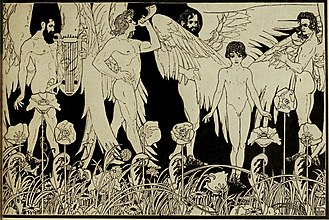 Book of Genesis - The Creation of Man by Ephraim Moses Lilien, 1903.