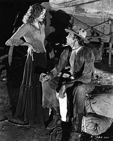 Film still of Lili Damita and Gary Cooper