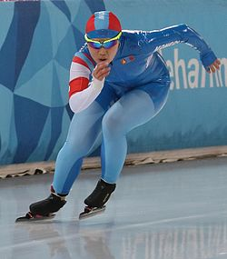 Lillehammer 2016 - Speed skating Ladies' 500m race 2 - Sumiya Buyantogtokh (cropped).jpg