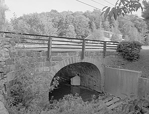 Lilly, Pennsylvania - The Lilly Bridge, a historic site in the borough