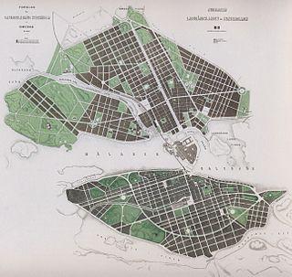 generalplan för Stockholm framlagd i ett Utlåtande med förslag till gatureglering i Stockholm år 1866