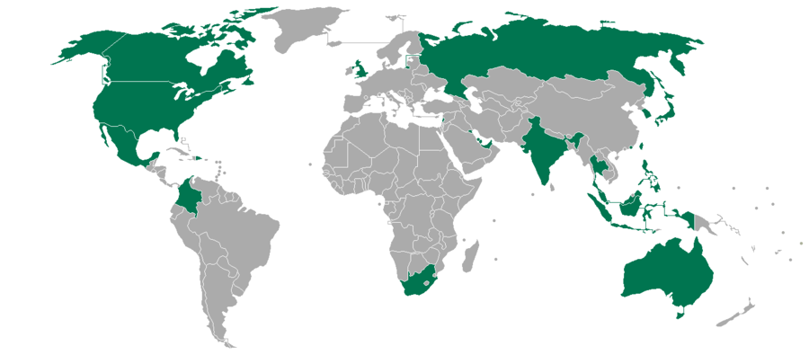 Krispy Kreme Operations By Country Wikipedia - Map of every casino in the us
