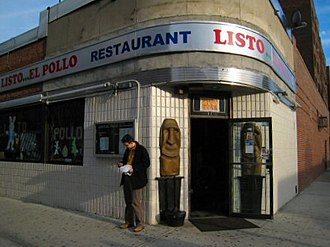 Emigration from Colombia - Colombian restaurant in Jackson Heights, New York City, where the largest number of Colombians outside Colombia resides.