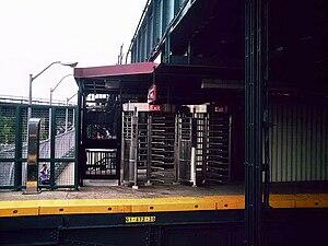 Livonia Avenue (BMT Canarsie Line) - Unstaffed entrance on the Canarsie-bound platform